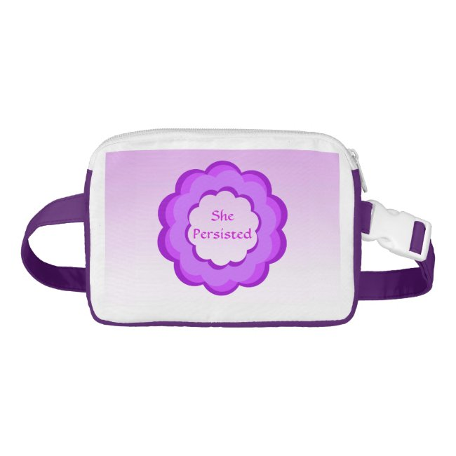 She Persisted Purple and Pink Fanny Pack
