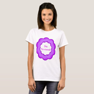 She Persisted Purple and Pink Flower Resist Shirt