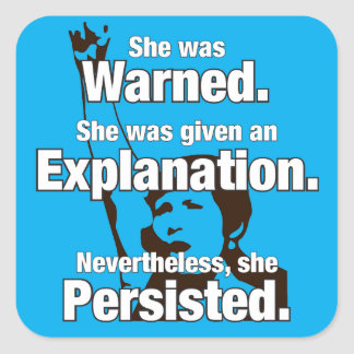 """She Persisted"" Sticker"