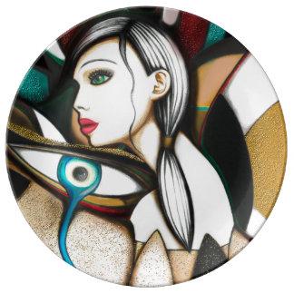 She Porcelain Plate