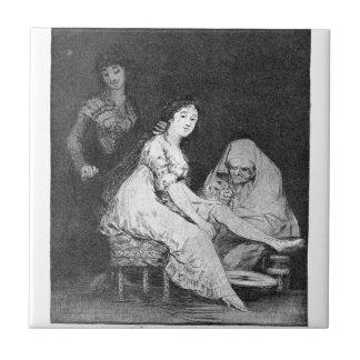She prays for her by Francisco Goya Tile