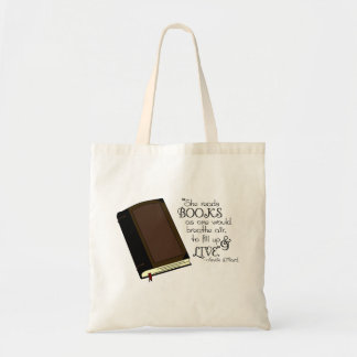 She Reads Books Tote Bag