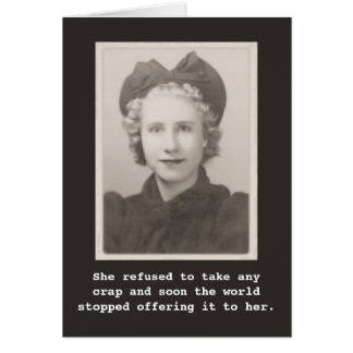 She refused to take any crap Vintage Photo Card