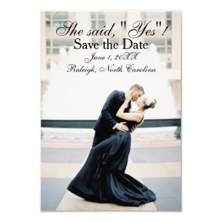 """She Said """"Yes"""" - 3x5 Save the Date Announcement"""
