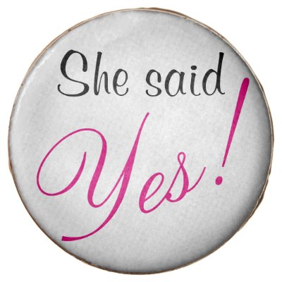 She said yes! cookies