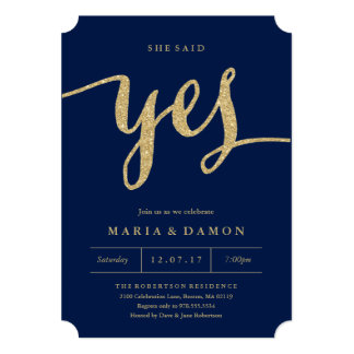 She Said Yes Engagement Party Invitation