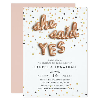 She Said Yes | Engagement Party Invitation