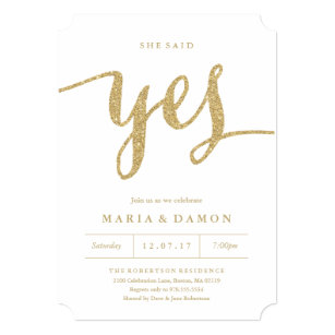 Engagement party invitations zazzle she said yes engagement party invitation stopboris Images