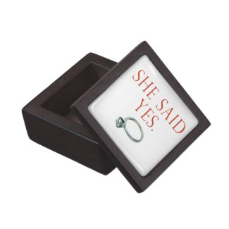 She Said Yes Groom Engagement Premium Jewelry Boxes