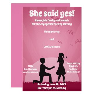 She Said Yes! Invitation