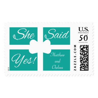 She Said Yes...Large Postage Stamp