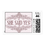 She Said Yes! - pink by Ceci New York Postage Stamps