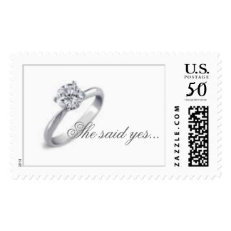 She said yes... postage