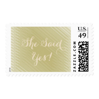 She Said Yes! Postage Stamps