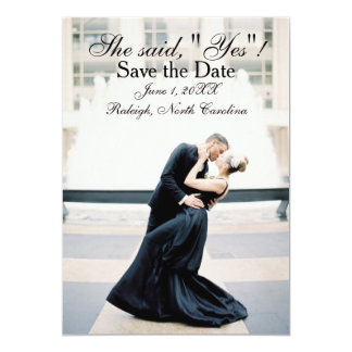 """She Said """"Yes"""" - Save the Date Announcement"""