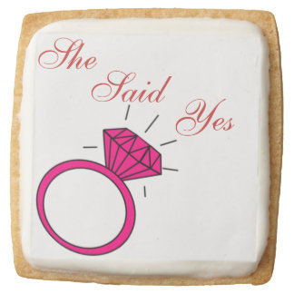 'She Said Yes' Shortbread Square Premium Shortbread Cookie
