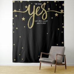 she said yes wedding photo Booth backdrop banner