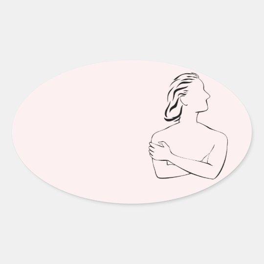 She Says Oval Sticker