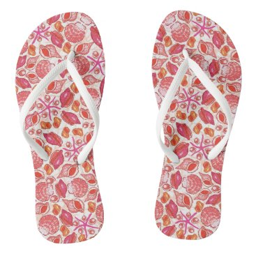 Beach Themed She Sells Sea Shells Flip Flops