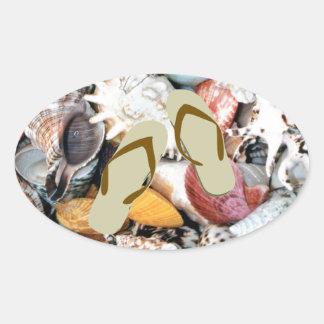 She Sells Sea Shells Oval Stickers