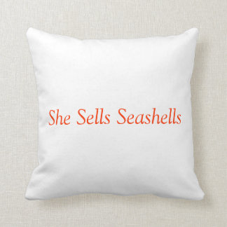 She Sells Seashells - Pillow