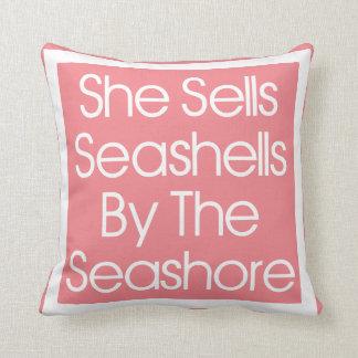 She Sells Seashells Throw Pillow