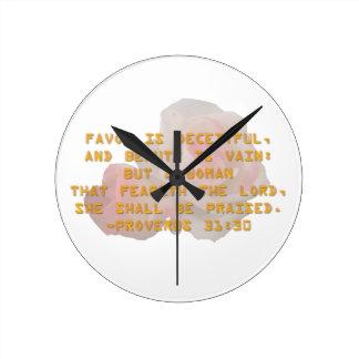 She Shall Be Praised Round Clock