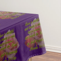 She Shall Be Praised Tablecloth