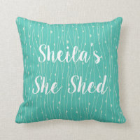 She Shed Style Throw Pillow