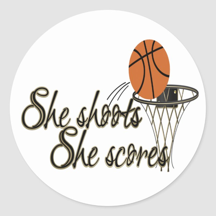 She Shoots...She Scores Classic Round Sticker