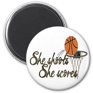 She Shoots...She Scores Fridge Magnet