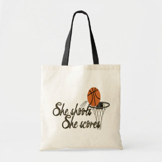 She Shoots...She Scores Tote Bag