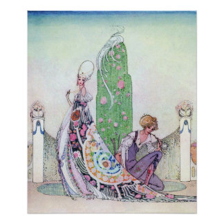 She Stopped by Kay Nielsen Poster