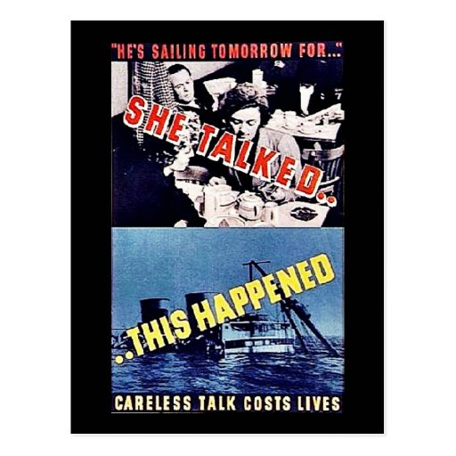 She Talked, This Happened Post Card