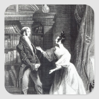 She then told him what Darcy had voluntarily Square Sticker