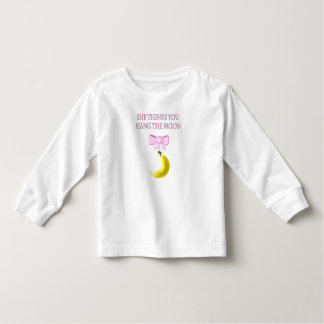 She Thinks You Hang The Moon Toddler T-shirt