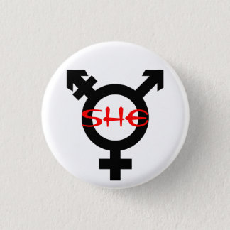 She Transgender Button