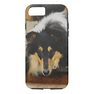 She Waits Tri Color Collie iPhone 8/7 Case