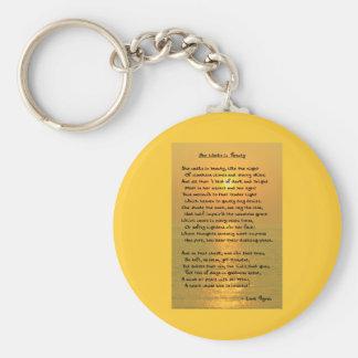 She Walks In Beauty/Cape May Sunset Keychain Key Chain