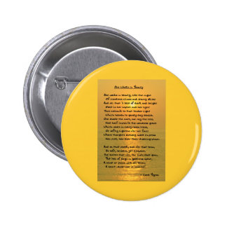 She Walks In Beauty/Cape May Sunset Round Button Pinback Buttons