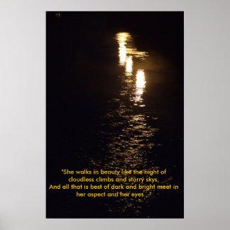 """She walks in beauty like the night o... Poster"