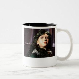 She walks in beauty Two-Tone coffee mug