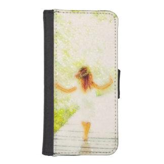 She Walks in Light Phone Wallet Case