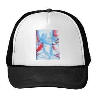 She Walks in Red Blue Trucker Hat