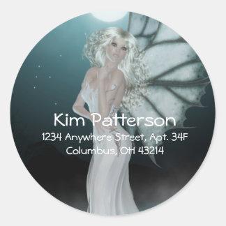 She Walks on Water - Fantasy/Fae Address Labels Classic Round Sticker