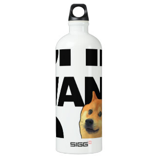 She want the Doge Aluminum Water Bottle