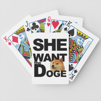 She want the Doge Bicycle Playing Cards