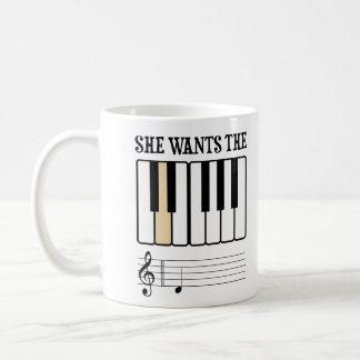 She Wants the D Piano Music Coffee Mug