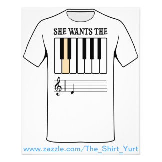 She Wants the D Piano Music Flyer