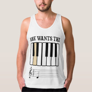 She Wants the D Piano Music Tank Top